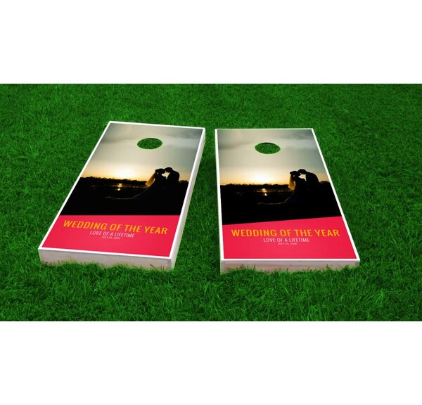 Wedding Sunset Light Weight Cornhole Game Set by Custom Cornhole Boards