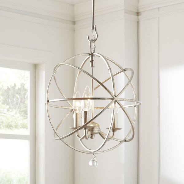 Gregoire 3-Light Globe Chandelier by Willa Arlo In