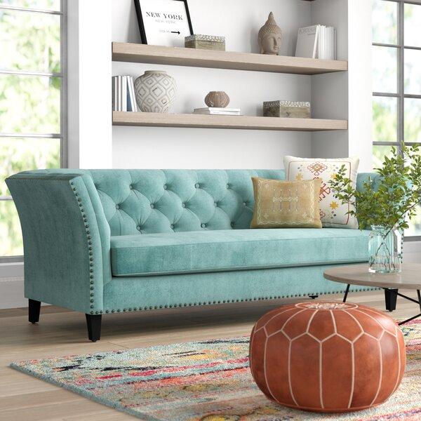 #2 Gilmore Chesterfield Sofa By Mistana New