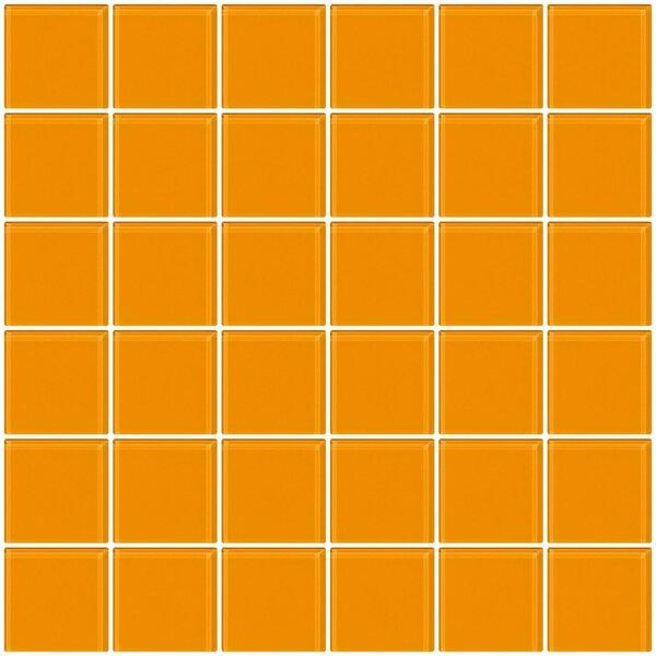 Bijou 22 2 x 2 Glass Mosaic Tile in Light Orange by Susan Jablon