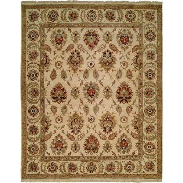 Fatehabad Hand-Knotted Ivory Area Rug by Meridian Rugmakers