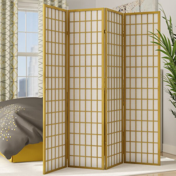 Freese Shoji 4 Panel Room Divider by World Menagerie