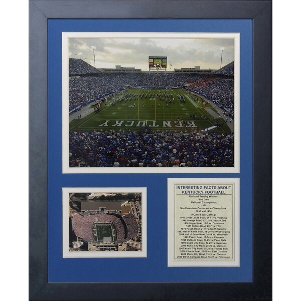 Kentucky Wildcats Commonwealth Stadium Framed Memorabilia by Legends Never Die