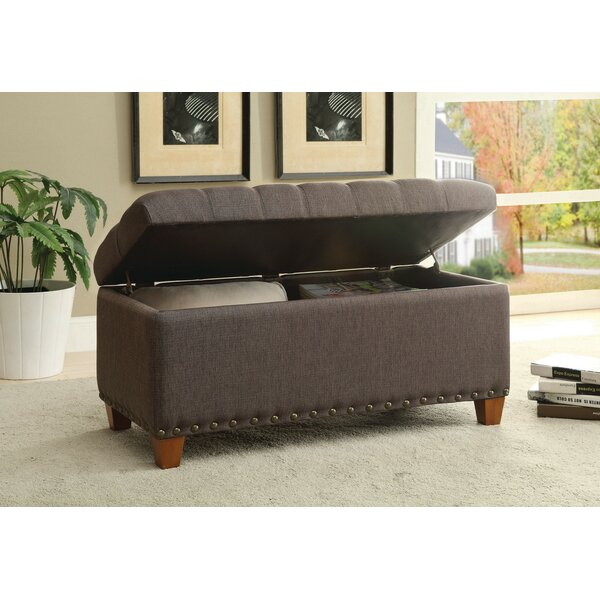 Longfellow Upholstered Storage Bench by Charlton Home