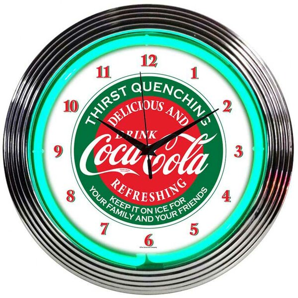 Drinks 15 Coca Cola Wall Clock by Neonetics