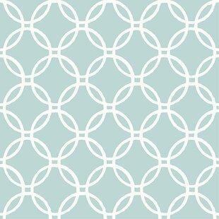 Blue Links 18 X 205 Wallpaper Roll