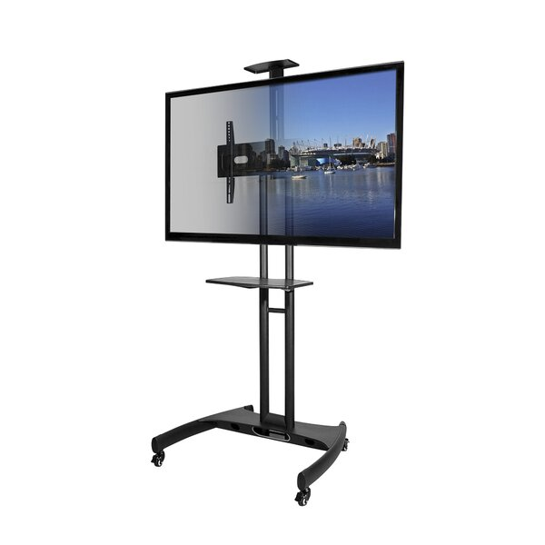 Mobile Fixed Floor TV Stand for 37-65 Flat Panel Screens by Kanto