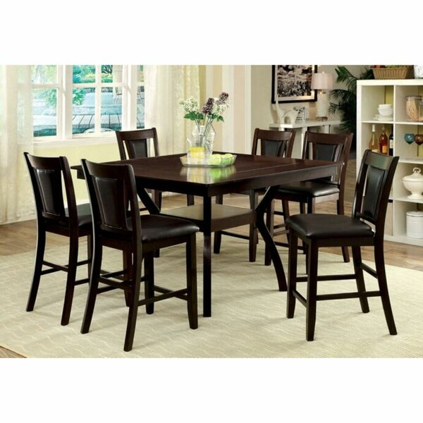 Nevaeh 7 Piece Counter Height Solid Wood Dining Table by Red Barrel Studio