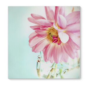 'Pink Flower' Graphic Art on Wrapped Canvas by KAVKA DESIGNS
