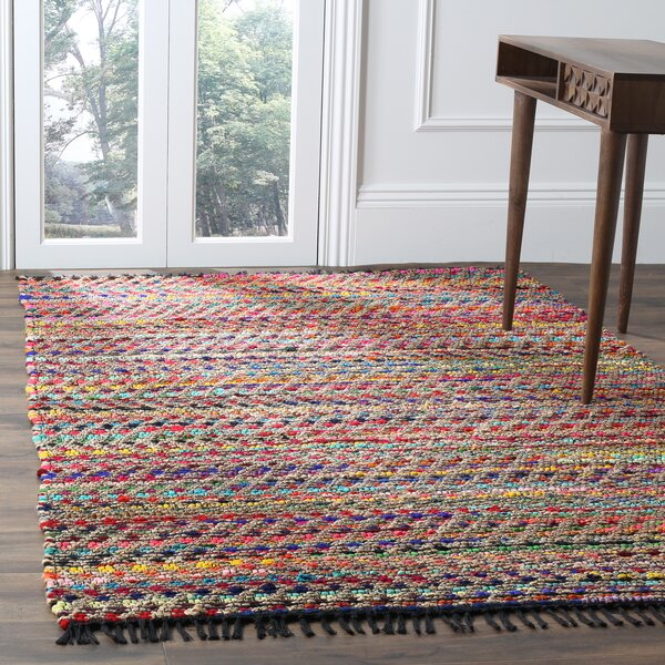 Bowen Hand-Woven Pink/Red Area Rug by World Menagerie