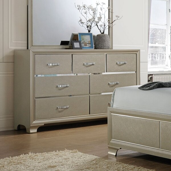 Sartin 7 Drawer Double Dresser by House of Hampton House of Hampton