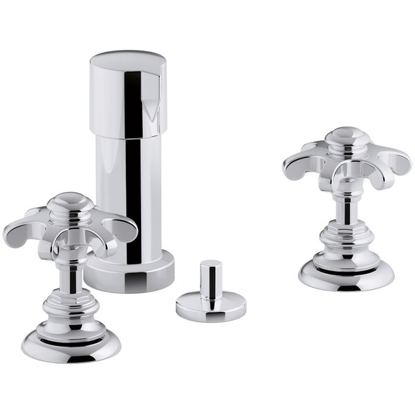 Artifacts Widespread Bidet Faucet with Prong Handles by Kohler