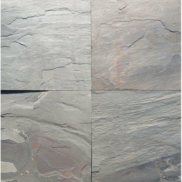 Multi Pink Natural Cleft Face, Gauged Back 16x16 Slate Field Tile