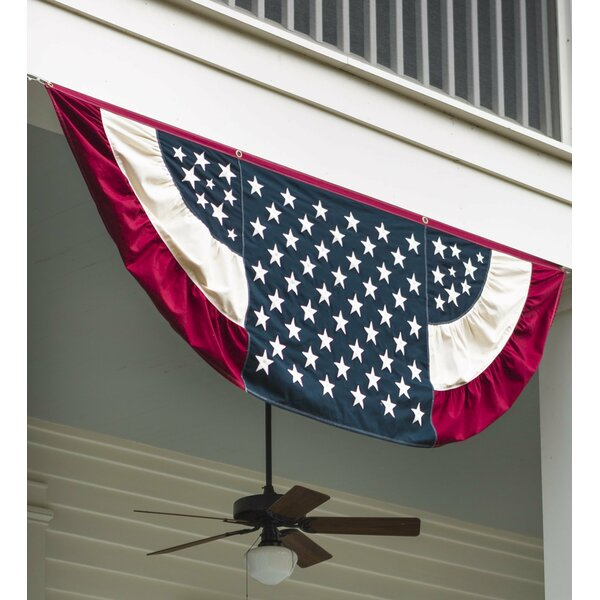 Vintage Pleated Flag by Plow & Hearth