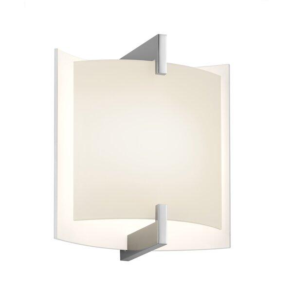 Double Arc 1-Light LED Flush Mount by Sonneman