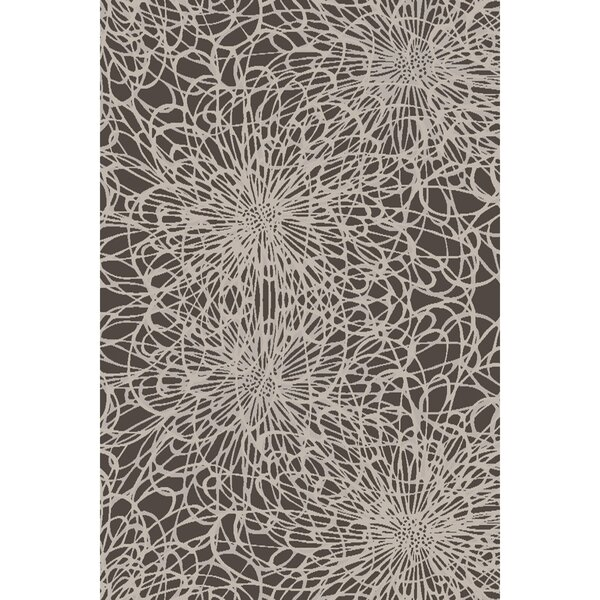 Oconnell Hand-Knotted Black/Ivory Area Rug by Brayden Studio
