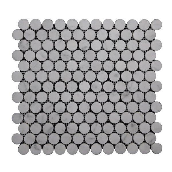 Honed Natural Stone Mosaic Tile in Carrara by QDI Surfaces