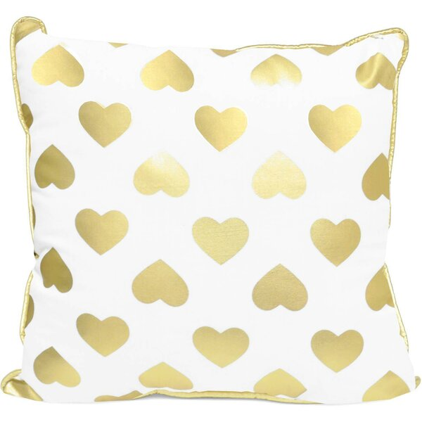 Pavone Foil Love and Heart Indoor/Outdoor Throw Pillow by Ebern Designs