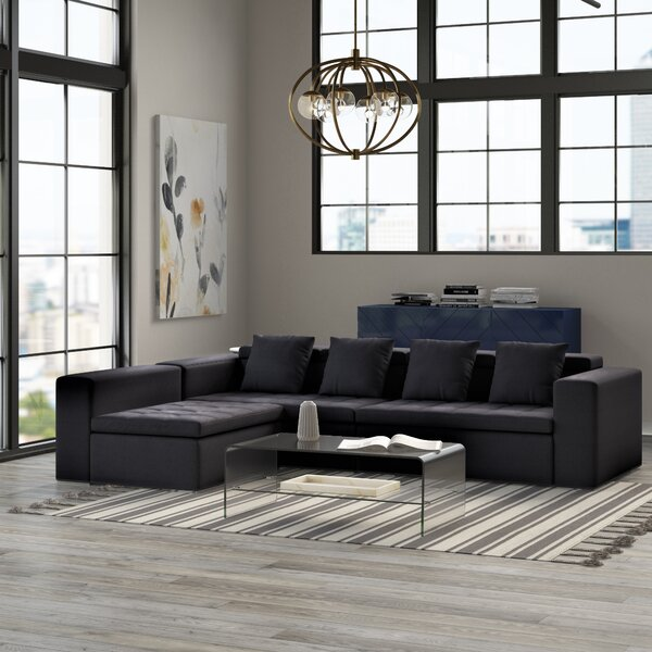 Custis Reversible Modular Sectional by Mercury Row