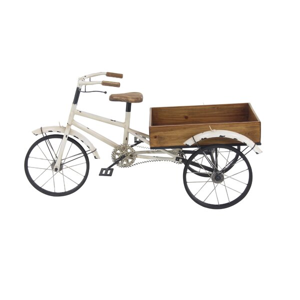 Gaughan Rustic Bicycle-Inspired Flower Cart Metal Planter Box by Gracie Oaks