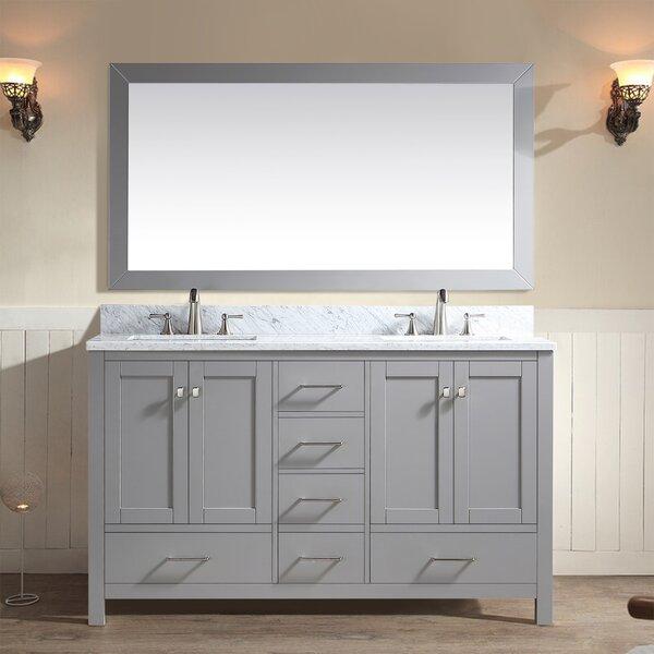Blumberg 60 Double Bathroom Vanity Set with Mirror