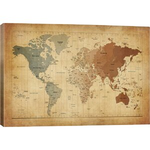 'Map of the World III' Graphic Art Print by East Urban Home