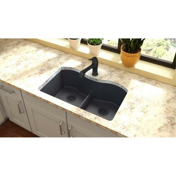Quartz Classic 33 x 20 Double Basin Undermount Kitchen Sink by Elkay