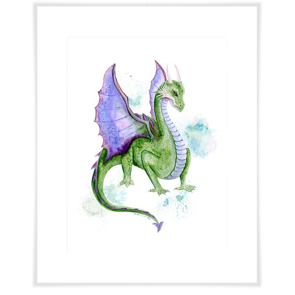 Aubree Dragon Portrait Paper Print by Harriet Bee