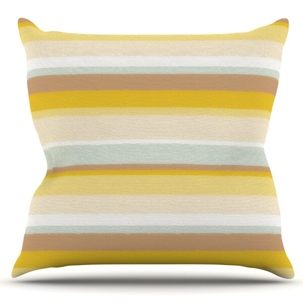 Stripes by Nika Martinez Outdoor Throw Pillow by East Urban Home