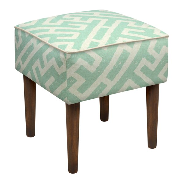 Noe Lattice Upholstered Vanity Stool by Langley Street