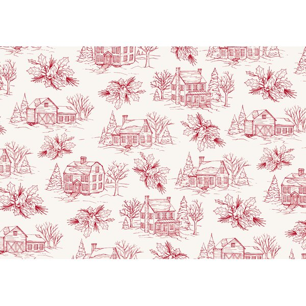 Luis Holiday Farm House 18 Placemat (Set of 20) by August Grove