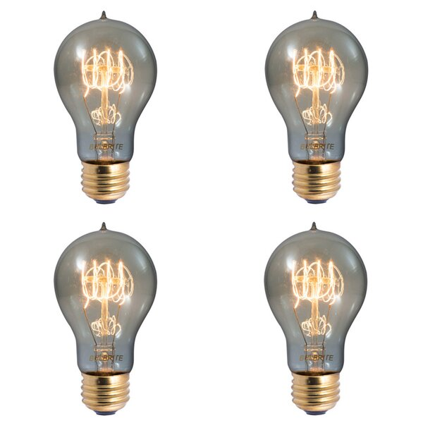 E26 Dimmable Incandescent Light Bulb Smoke (Set of 4) by Bulbrite Industries