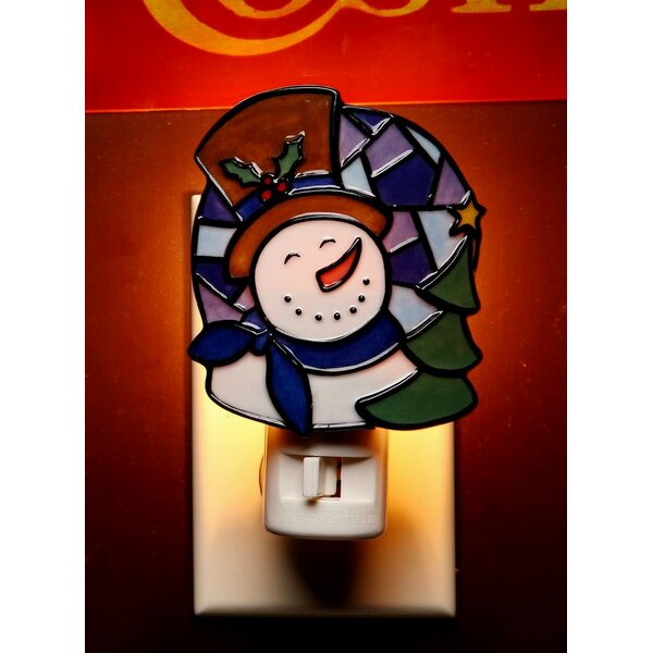 Snowman Plug-In Night Light by Cosmos Gifts