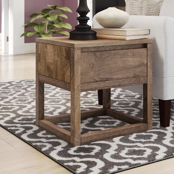 Princeton End Table with Storage by Union Rustic