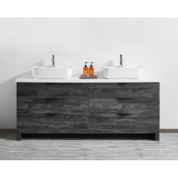 Hamann 72 Double Bathroom Vanity Set