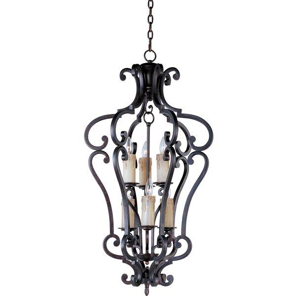 Winchester 6 - Light Lantern Geometric Chandelier by Fleur De Lis Living Fleur De Lis Living