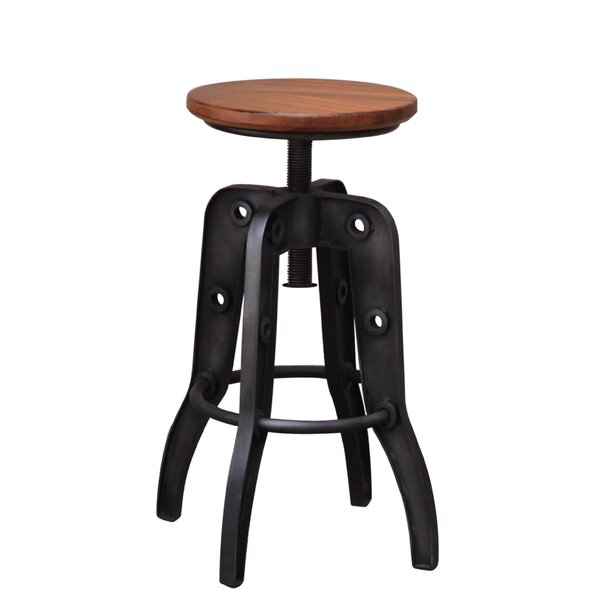 Doylestown Adjustable Height Swivel Bar Stool by 17 Stories