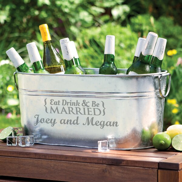 Roache Eat Drink and Be Married Personalized Beverage Tub by Charlton Home