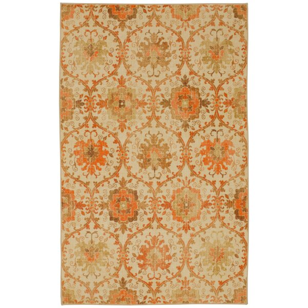 Barkhampstead Gold/Orange Area Rug by Bungalow Rose
