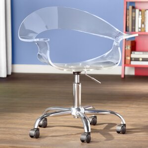 mikayla desk chair - Clear Desk Chair