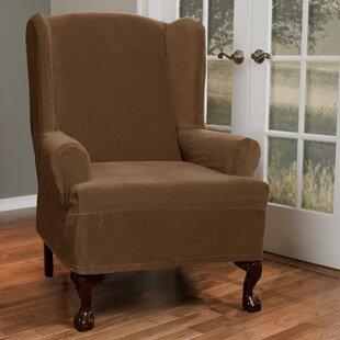 Good 2 Piece Wing Chair Slipcover | Wayfair.ca