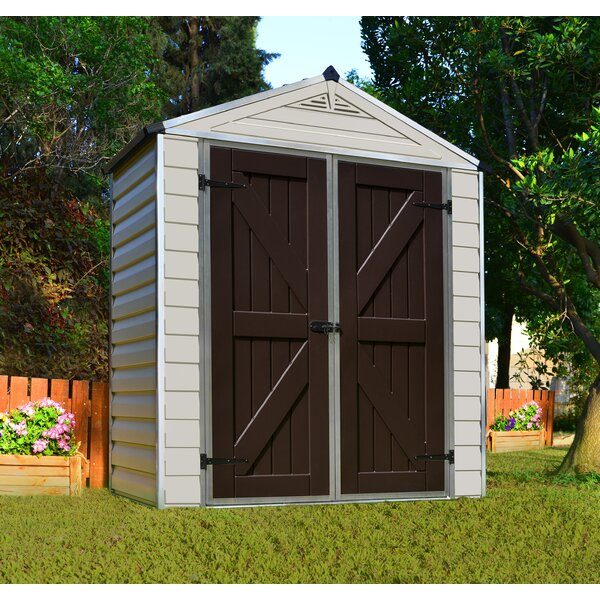 SkyLight™ 6 ft. 1 in. W x 3 ft. 4 in. D Polycarbonate Storage Shed by Palram