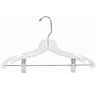 Price Check Plastic Suit Nursery Hanger with Clips (Set of 100) By Only Hangers Inc.