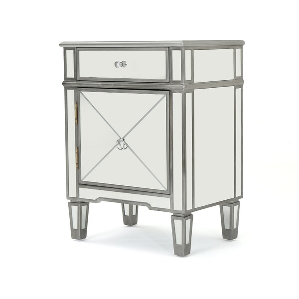 Terrace Mirrored 2 Drawer Accent Chest by House of Hampton