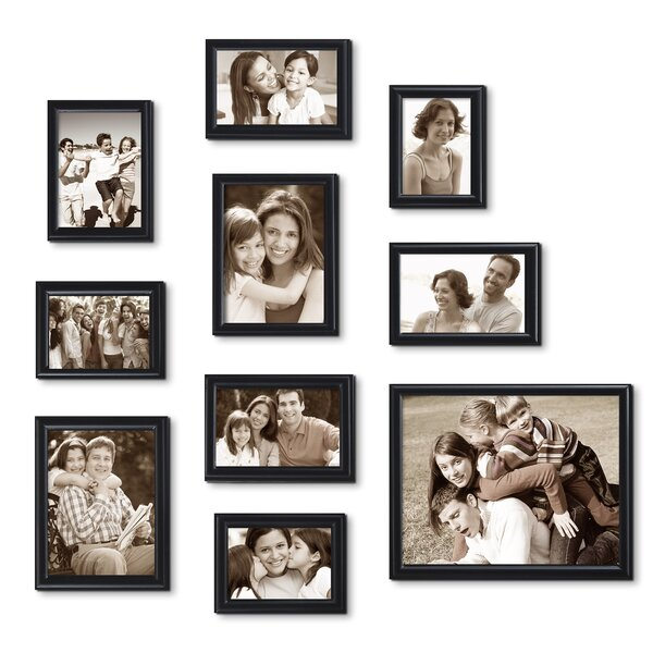 10 Piece Decorative Curved Bevel Picture Frame Set by Adeco Trading