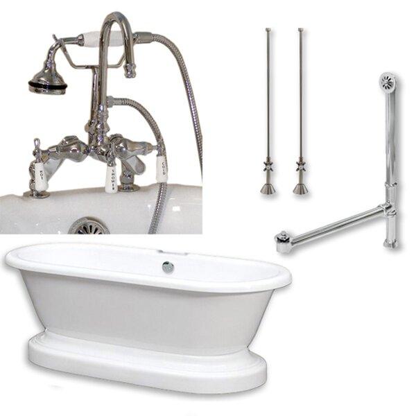 70 x 30 Freestanding Soaking Bathtub by Cambridge Plumbing