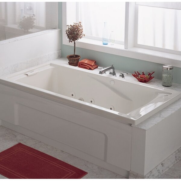 Evolution Soak EverClean 60 x 36 Deep Undermount Whirlpool Bathtub by American Standard