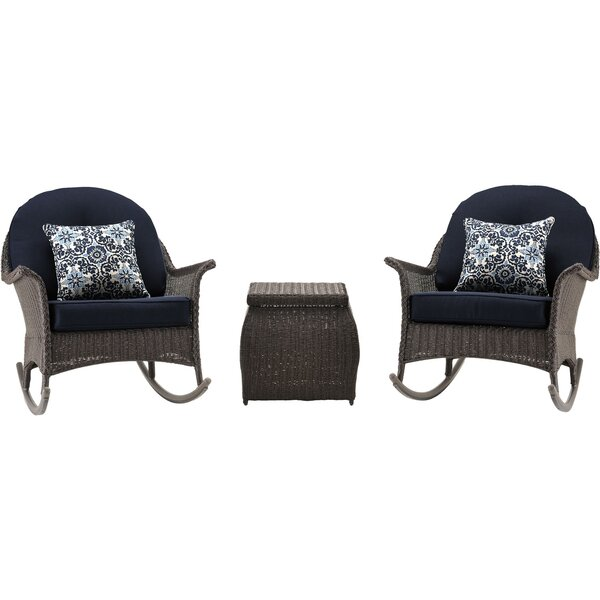 Kinnison 3 Piece Conversation Set with Cushions by Bayou Breeze