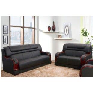 Noel Orren 2 Piece Genuine Leather Living Room Set by Latitude Run®