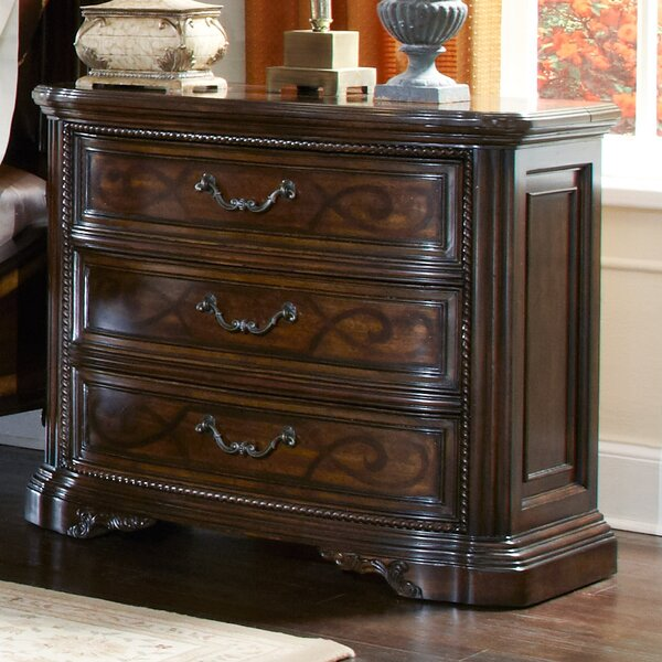 Evelyn 3 Drawer Nightstand by Astoria Grand